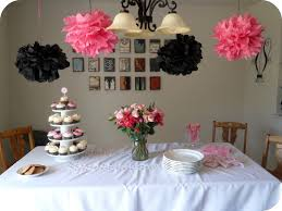 Bridal Shower Decor by I Like The Colors Black Pink Bridal Shower Themes Adventures
