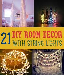 Room Decor Lights Diy String Lights To Decorate Your Rooms Diy Room Decor Room