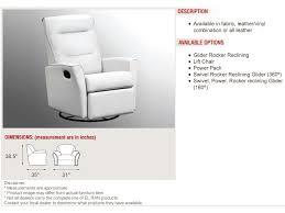 elran living room swivel glider recliner erl0342 sg penny