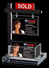 Desk Card Holders For Business Cards Mini Real Estate Sign U0026 Business Card Holder Real Estate 101