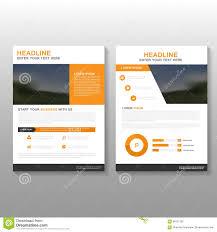 cover layout com orange vector leaflet brochure flyer business proposal template