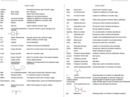 the organic chemistry reagent guide u2014 master organic chemistry