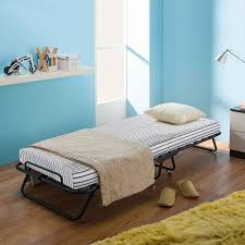 Single Folding Guest Bed Black Ikayaa Metal Wood Rollaway Single Folding Bed Frame With