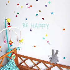 personalisable colour dots wall stickers set of 40 by little baby multi