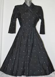 rochii vintage margot vintage rochie vintage din matase naturala cu broderie anii 50