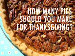 thanksgiving pies how many pies should you make for thanksgiving