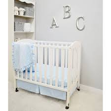 Minky Crib Bedding American Baby Company Heavenly Soft Minky Dot 3 Mini