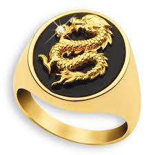 men golden rings images Men 39 s golden dragon ring danbury mint jpg