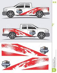 Vintage Ford Truck Decals - truck and vehicle decal graphic design stock vector image 74351805