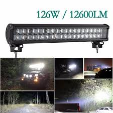 led security light bar led work light bar 20 inch 126w 12600lm combo beam offroad led light