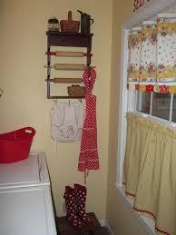 catherine holman folk art laundry room curtain tutorial