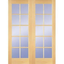 home depot wood doors interior builders choice 48 in x 80 in 10 lite clear wood pine prehung