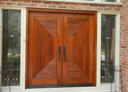 astonishing double front doors for homes with dark wood and