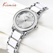 ceramic bracelet watches images Kimio 2018 brand ladies imitation ceramic watch luxury gold jpg