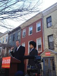 a tale of one house bill de blasio tells u0027a tale of two cities u0027 at his mayoral