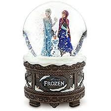 disney frozen musical waterglobe snow globe plays