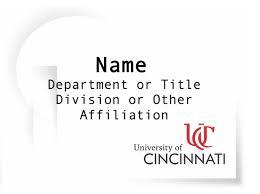 word name tag template brand guide university of cincinnati