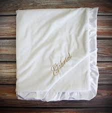 christening blanket personalized embroidered minky blanket blessing blanket baptism blanket