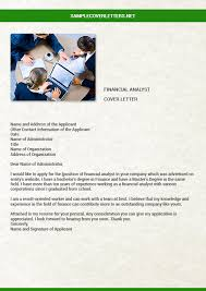 financial analyst cover letter sample cover letters