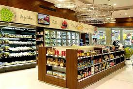 U Shaped Retail Grocery Store Interior Design Of Gourmet Egypt - Retail store interior design ideas