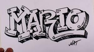 graffiti writing mario name design 38 in 50 names promotion mat