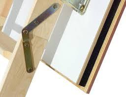 fakro wooden folding loft ladder lwf fire resistant 3 section