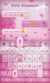 keyboard themes for android free download pink blossom go keyboard theme 1mobile com
