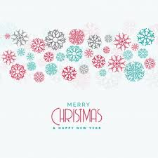 happy new year merry christmas greeting card free vector vectors