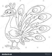coloring page peacock bird colouring book stock vector 372291988