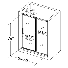 Shower Door Width Ultra B 60 X 76 Single Sliding Shower Door Reviews Allmodern