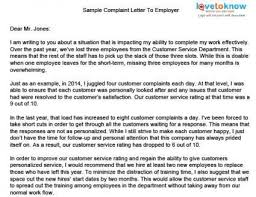 Formal Complaint Letter Against An Employee sle formal complaint letter about a coworker cover the