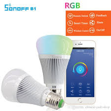 wifi enabled light bulb original sonoff b1 led bulb dimmer wifi smart light bulbs remote