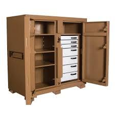 Wood Tool Storage Cabinets Knaack Jobsite Storage Tool Storage The Home Depot
