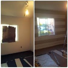diy stripes taping took longer than paint behr wheat bread