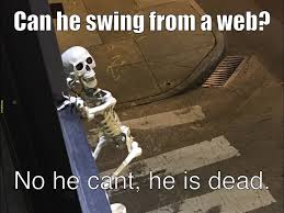 Skeleton Meme - skele man skele man does what ever a skeleton can meme by