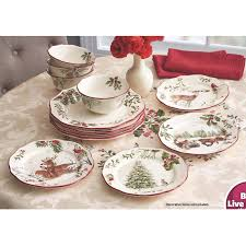 christmas dishes better homes and gardens heritage 12 dinnerware set