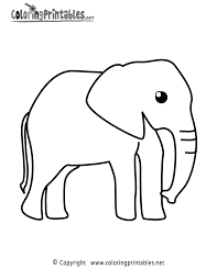 elephant coloring page a free animal coloring printable
