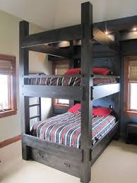 custom queen over queen bunk beds by haak designs distinctive