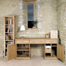 Computer Desk Hidden by Mobel Oak Large Hidden Office Twin Pedestal Desk Cor06d