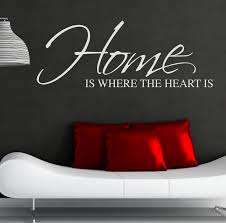home is where the heart is wall sticker art decal quote please use the dropdown tab at the top of the page to select your colour and size requirements