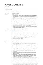 Sample Resume For Janitor Concrete Finisher Resume Samples Visualcv Resume Samples Database