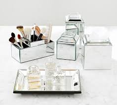 Glass Bathroom Accessories Sets Mirrored Bath Accessories Pottery Barn
