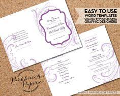 print at home wedding programs wedding program ribbon diy editable word template instant