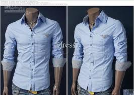 2018 mens shirt casual slim fit dress shirts e81 from edress