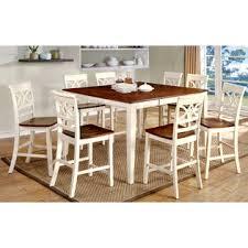 furniture of america vintage white petronella 9 piece counter
