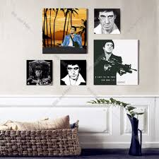 popular scarface canvas art buy cheap scarface canvas art lots scarface portrait movie canvas art print painting poster wall pictures for living room home decoration bedroom