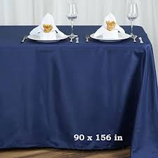 Navy Blue Table L Balsacircle 90x156 Inch Navy Blue Rectangle Polyester