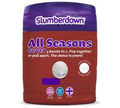 Tog In Duvet Buy Slumberdown All Seasons 9 4 5 Tog 3 In 1 Duvet Double At