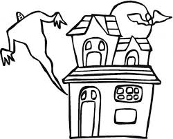 haunted house coloring sheets coloring