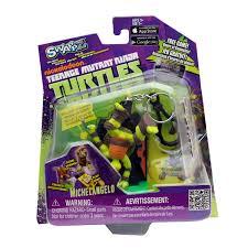 tmnt ninja turtles figurine key ring black michelangelo swappz game